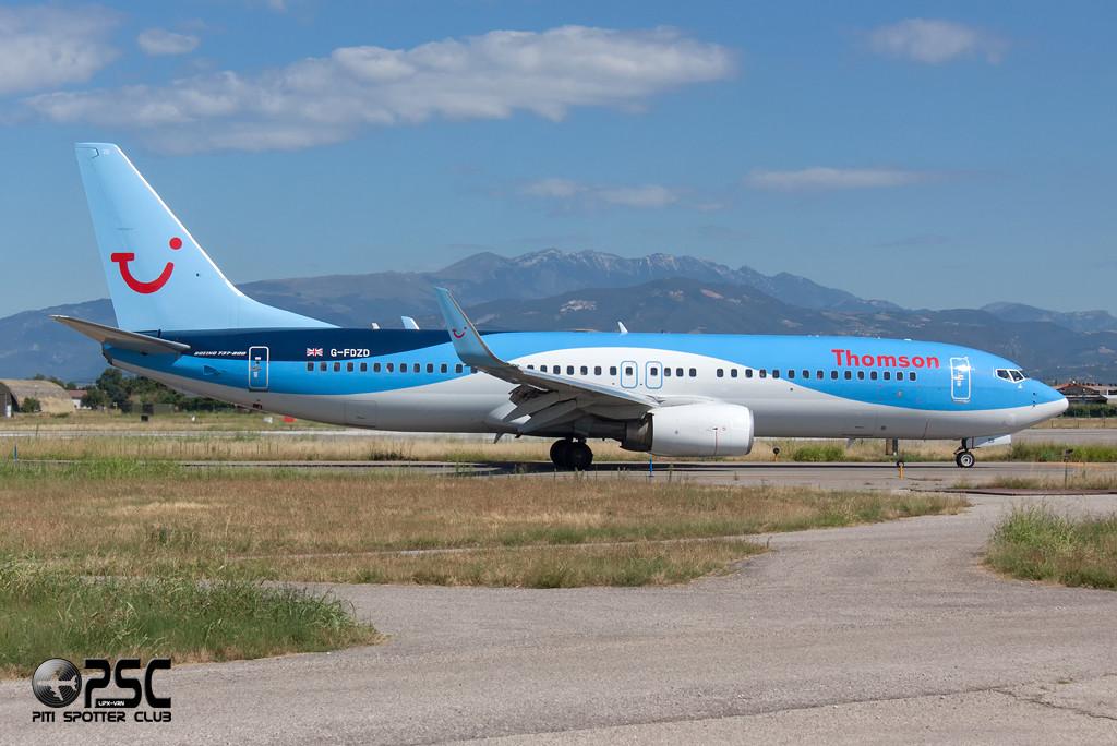 Boeing 737 Next Gen - MSN 35132 - G-FDZD  Airline Thomson Airways