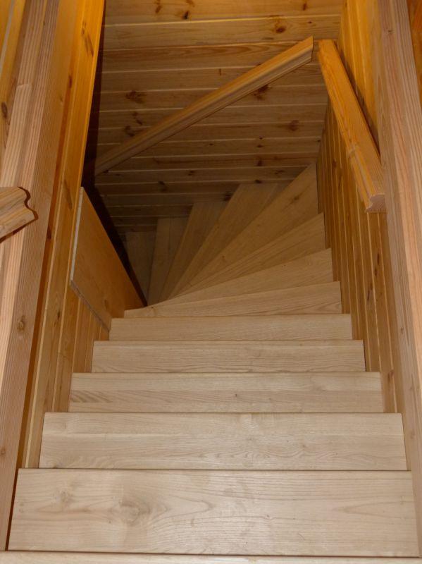 Escalier sur crémaillère