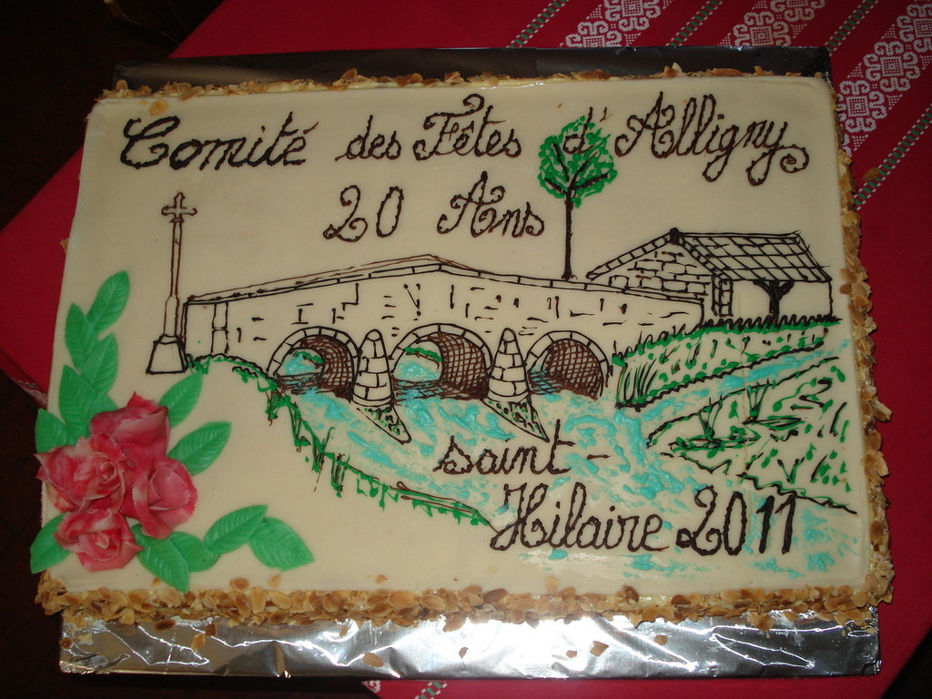 La génoise au Kirsch du Comité des fêtes d'Alligny