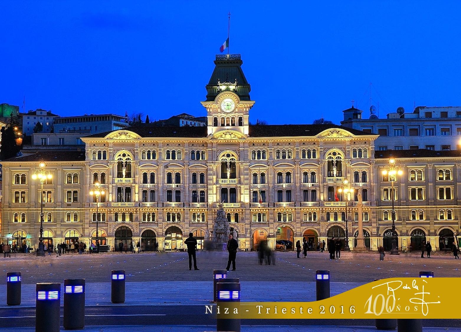 Trieste, 100Aniversario SR de la F., Piazza Unità di Italia