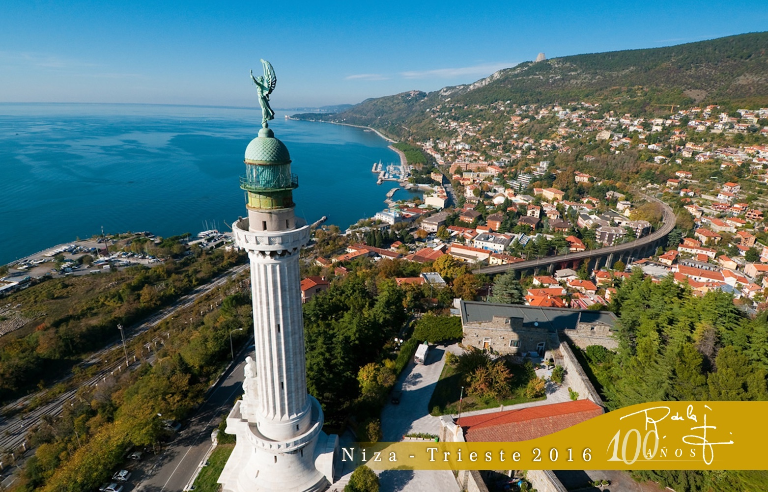 Trieste, 100Aniversario SR de la F., Faro della Vittoria