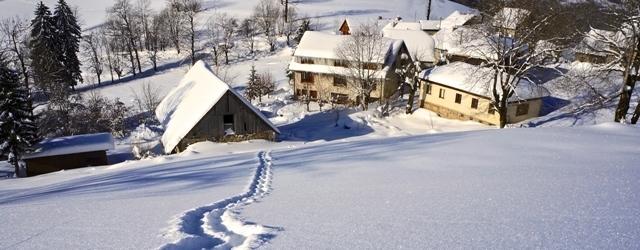 Les Claret en hiver