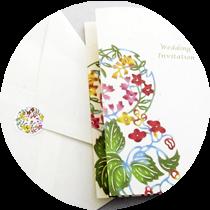 月桃紙、紅型インビテーションカード(招待状)