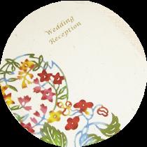 月桃紙、紅型レセプションカード