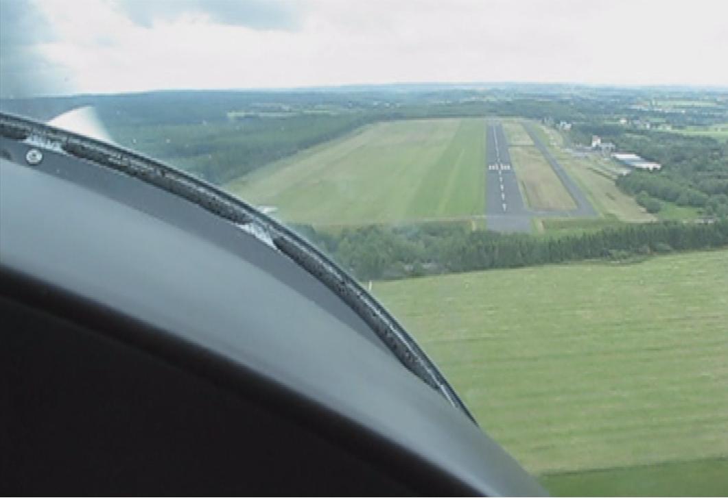 Landeanflug slip EDKV (HR)