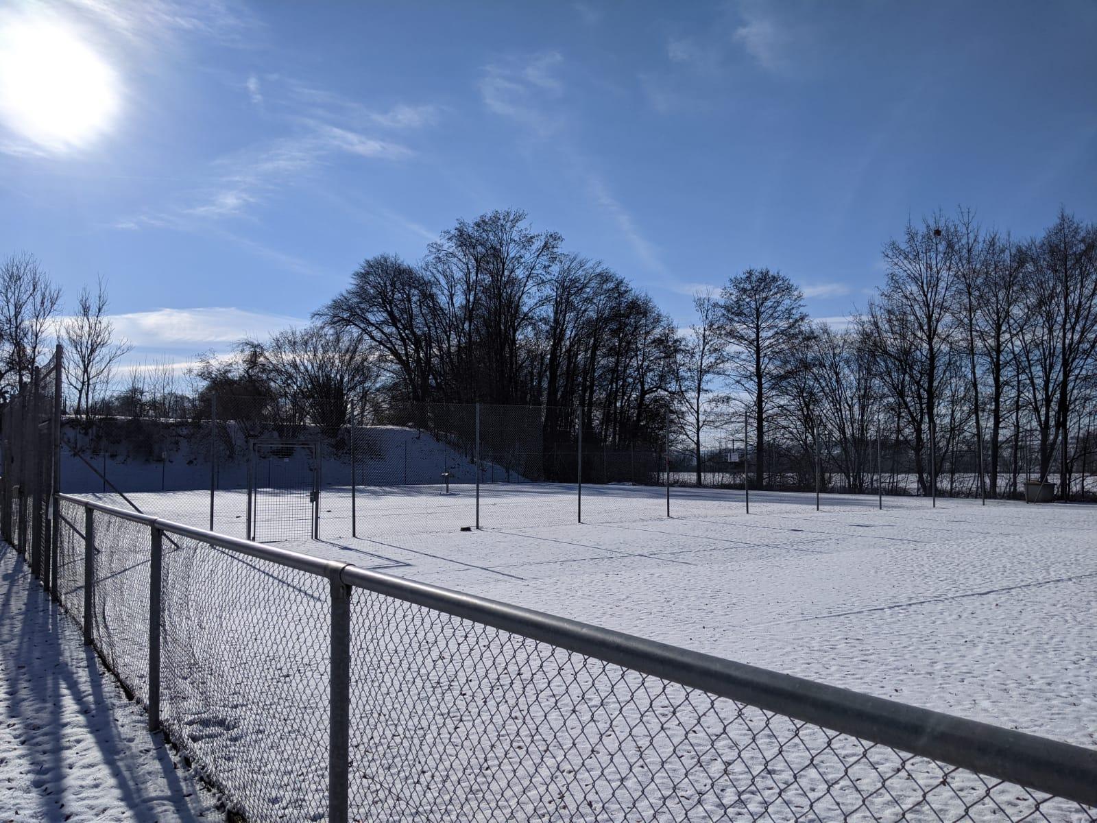 Unsere Anlage bei Schnee