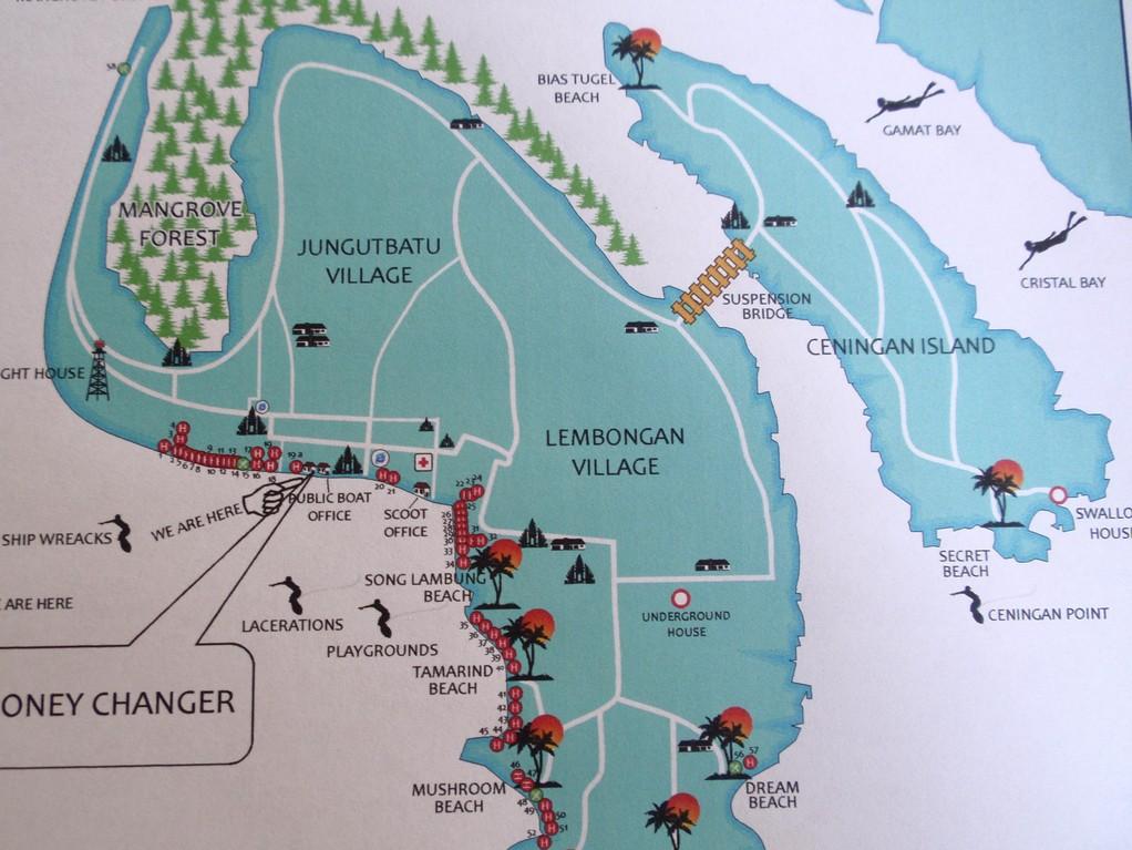 レンボンガン島 MAP