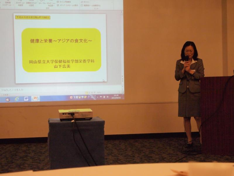 総会の後、同窓生の山下先生の講演会がありました。