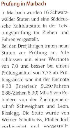 "Presseauszug ""Schwarzwälder Spezial 3/17"""