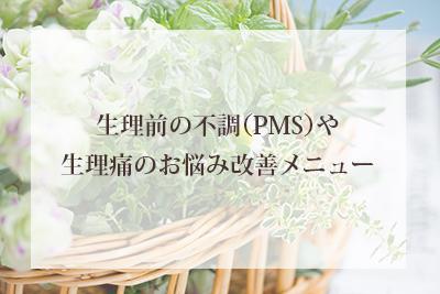 生理前の不調(PMS)や生理痛のお悩み改善メニュー