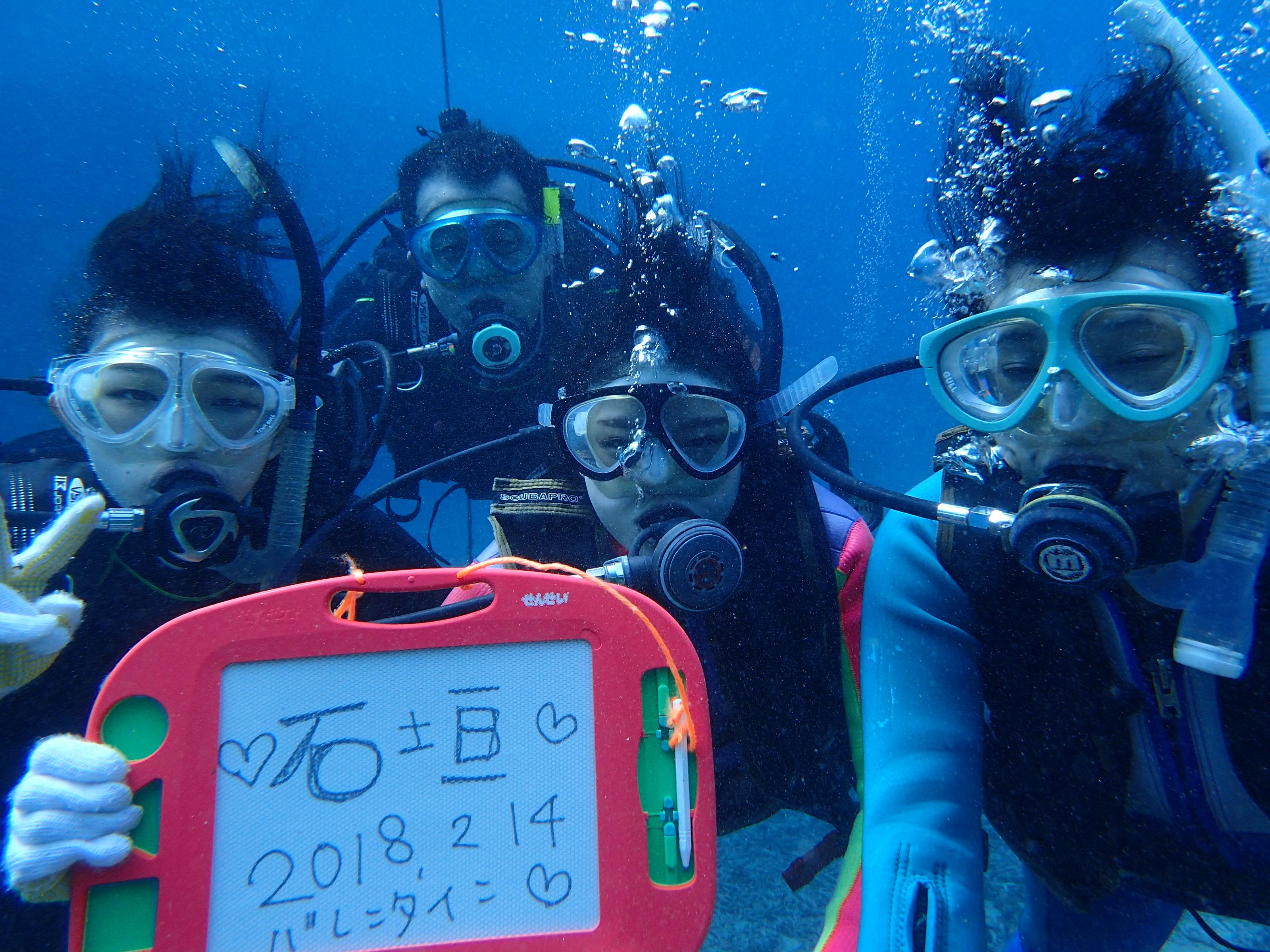 石垣島のヒートハートクラブ のんびり体験ダイビング