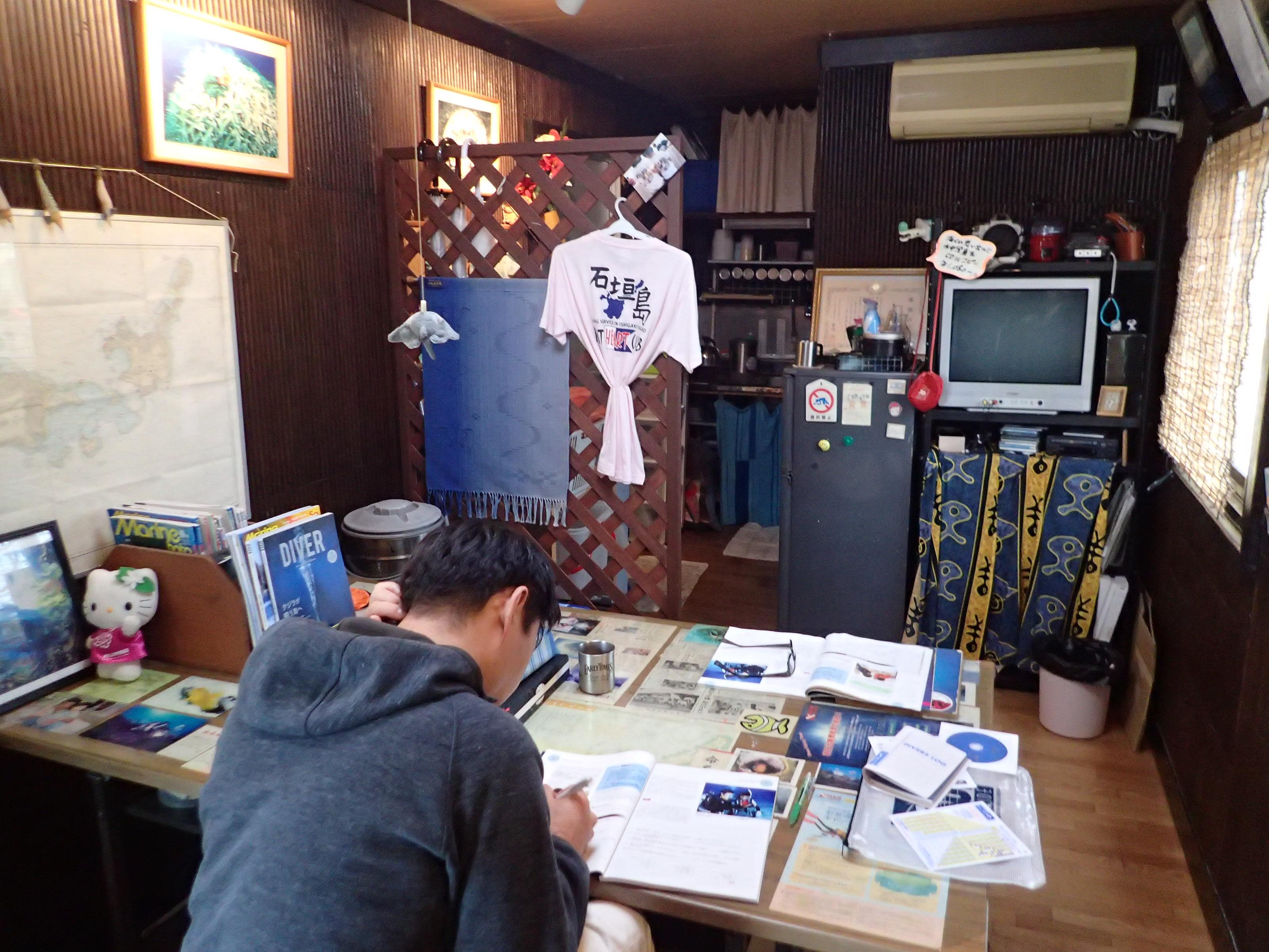 石垣島のヒートハートクラブでのんびりCカード取得