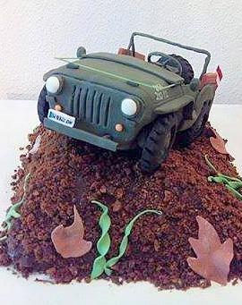 Geburtstagstorte Jeep @ Renates Torten Design