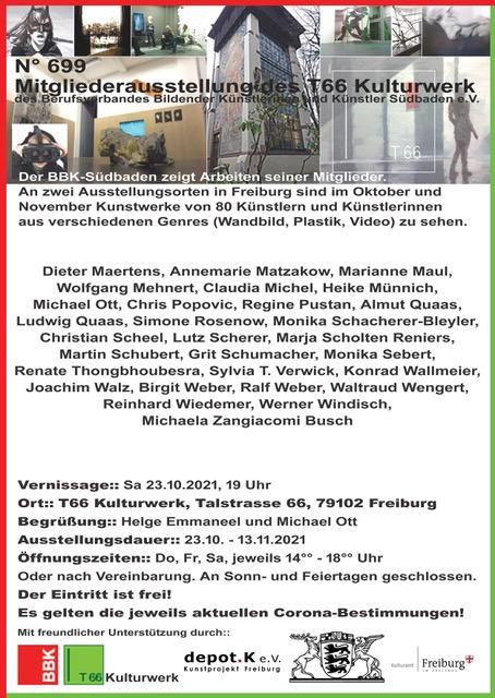 Mitgliederausstellung BBK Konrad Wallmeier