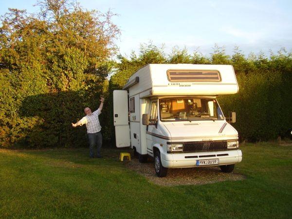 erster Campingplatz in England bei Cambridge