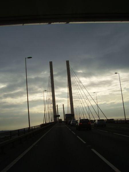 Brücke der Themse Liesel  Queen Elisabeth Bridge                                                                                                 Queen Elisabeth Bridcge4444, Brücke der Themse Liesel