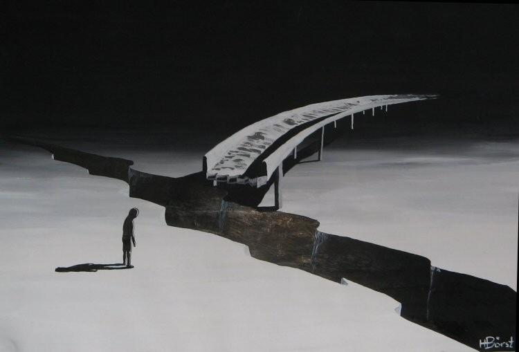 Trennung  Plaka  ca.40x50 cm