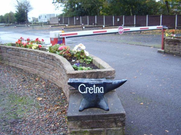Camping Gretna, gegenüber ist Gretna Green