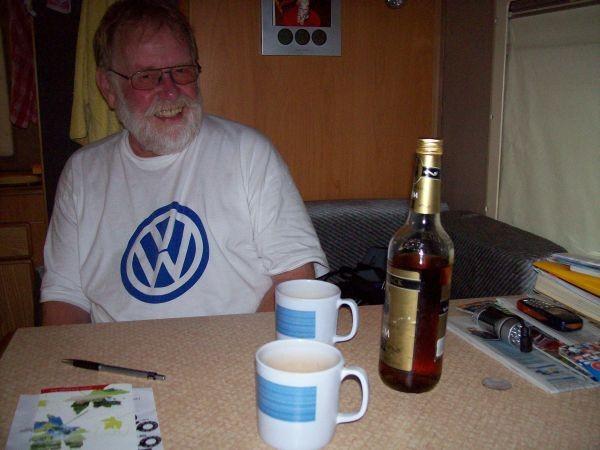 Behelfsgetränk Rum (erster Abend in England)