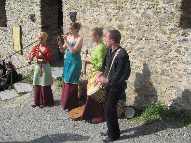 Spielleute auf Burg Freienfels