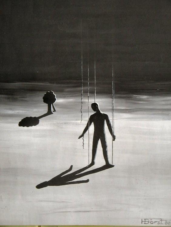 Die Marionette  Plaka ca.40x50 cm