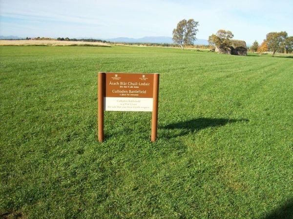 das Schlachtfeld bei Culloden 1746