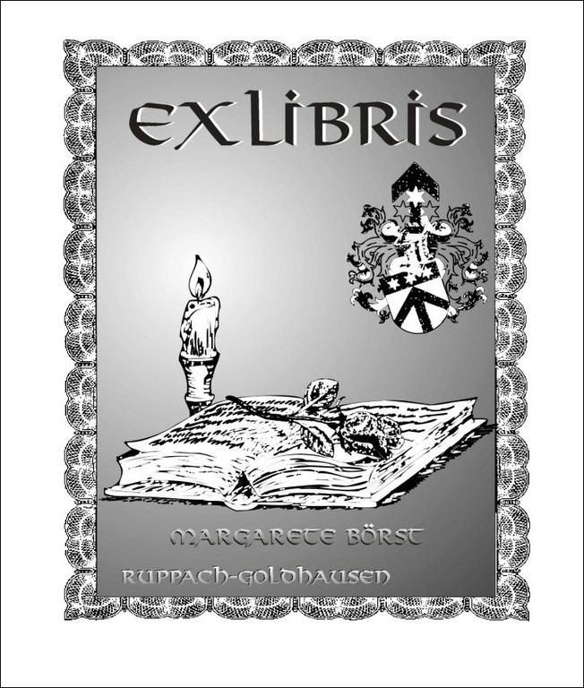 Exlibris Margarete Börst