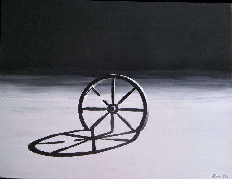 Rad der Zeit   Plaka  ca.40x50 cm
