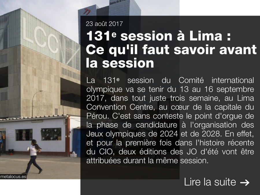 131e session CIO, IOC, Lima 2017, Paris 2024, LA 2028, Los Angeles 2028