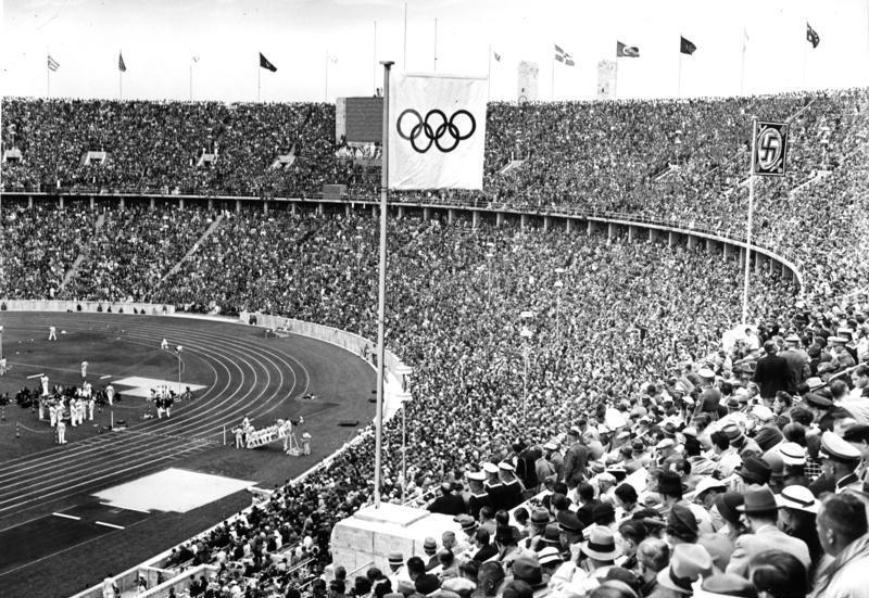 Les tribunes du Stade olympique