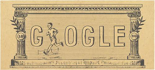 Un des quatre doodle proposé aujourd'hui par Google sur sa page d'accueil (crédits : Google)
