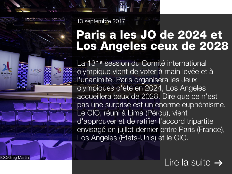 130e session CIO, IOC, Lausanne, Paris 2024, LA 2028, Los Angeles 2028