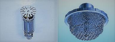 左:フォームウォータースプリンクラーヘッド、右:フォームヘッド