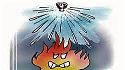 スプリンクラー設備で消火