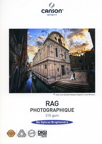 PAPIER RAG PHOTOGRAPHIQUE 310g