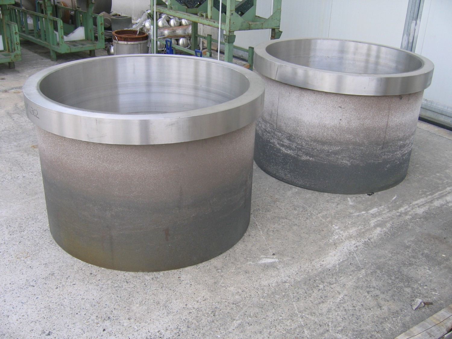 SAF 2304 unmachined rings for separators, to be weld assembled