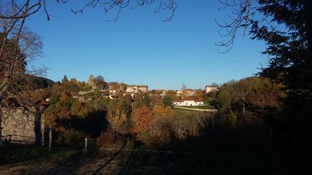 Vue du village d'accons (à proximité du Gîte de Monteliet)