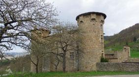 Château de la Mothe vu de la route