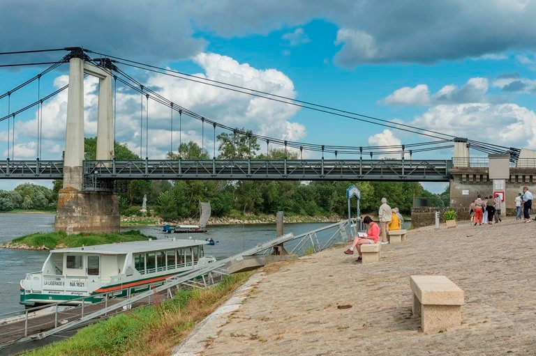 Embarcadère, sur les quais de Montjean sur Loire, lieu très actif au temps des mariniers, © Dominique Drouet