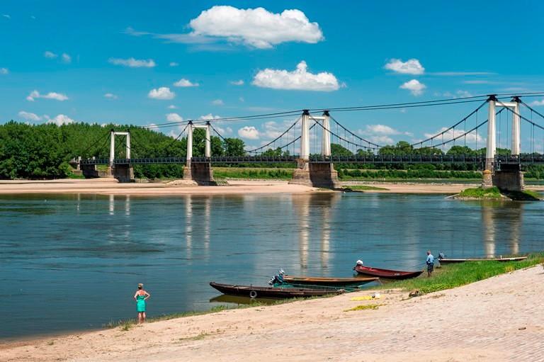 La Loire et le pont de Montjean sur Loire, © Dominique Drouet