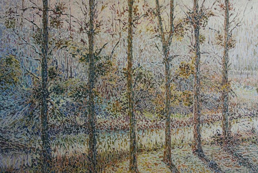 """""""La Sèvre à Monnières"""" Bernard CORNET Postimpressionisme"""