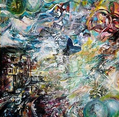 """""""Pouring climat"""" Claire DUPONT (acrylique)"""