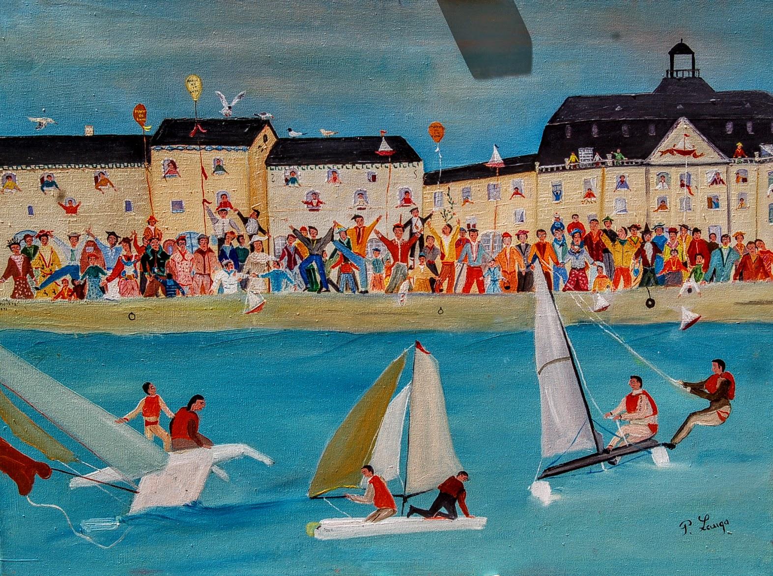 """""""Les marins de la lune"""" (régate à Bordeaux) Patrick LAUGA"""