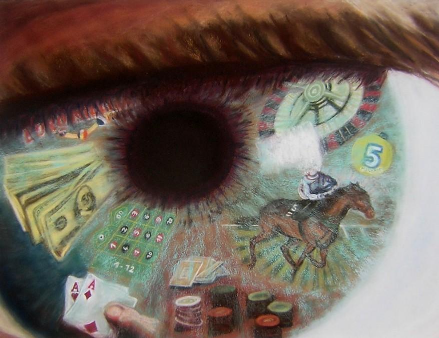 """tourbillon du jeu"" JP MARTINIERE pastel 70x55"