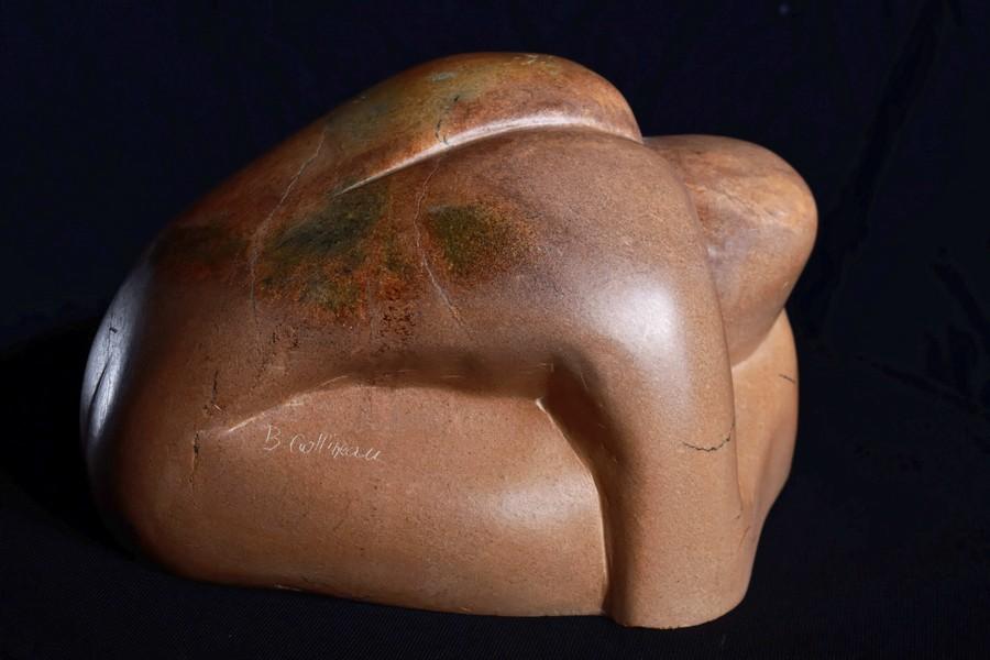"""""""Homme penché"""" Brigitte COTTINEAU sculpture"""