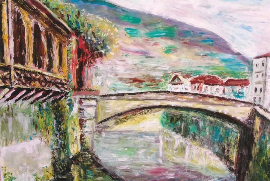 """""""Saint Céré La Bave""""  JP CHEVRIER huile 65x50"""