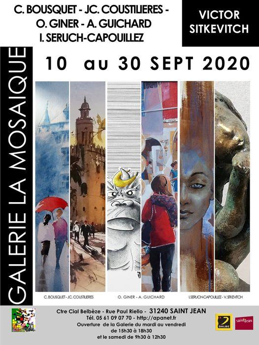 avec les artiste Claudie BOUSQUET, Isabelle SERUCH CAPOUILLEZ, JC COUSTILIERES, Alain GUICHARD, O. GINER, Victor SITKEVITCH