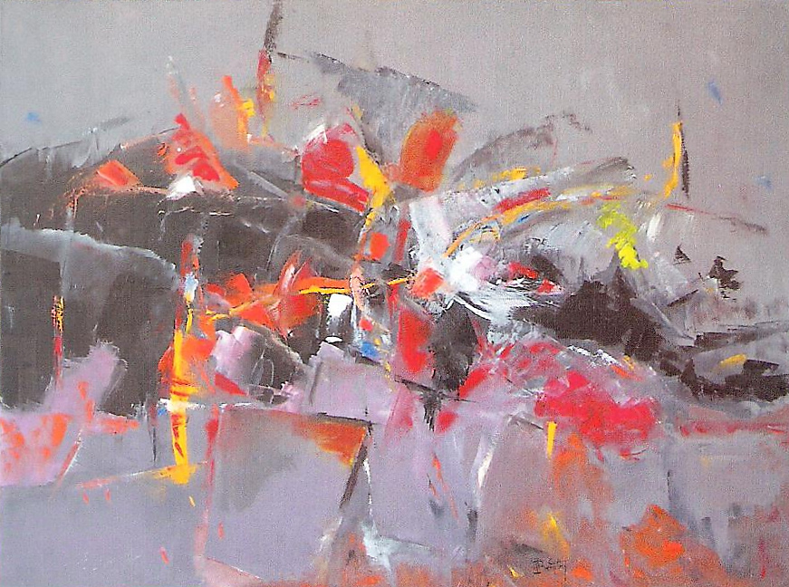 """""""Composition 79"""" Pierre BOUTRY huile 116x89"""