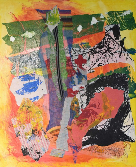 """Croix et calvaires"" Marie PIERRE ESTEVE collage"