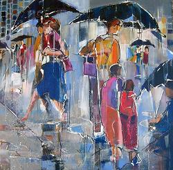 "Alain GUICHARD ""Pluie"" acrylique"